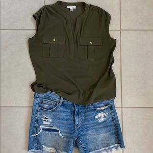 Olive green dressy/ casual tank